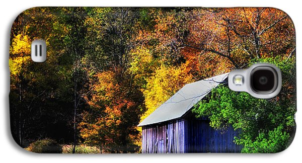 Farmscape Galaxy S4 Cases - Kent Hollow II - New England rustic barn Galaxy S4 Case by Thomas Schoeller