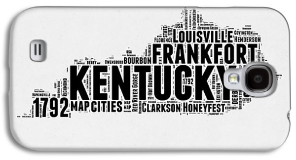 Kentucky Word Cloud Map 2 Galaxy S4 Case by Naxart Studio