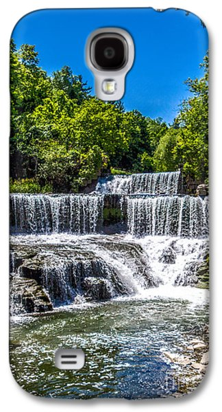 Keuka Galaxy S4 Cases - Keuka Outlet Waterfall Galaxy S4 Case by William Norton