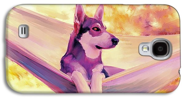 Dogs Digital Art Galaxy S4 Cases - Kicking Back Galaxy S4 Case by Tim Tompkins
