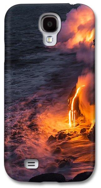 Kilauea Volcano Lava Flow Sea Entry 6 - The Big Island Hawaii Galaxy S4 Case by Brian Harig
