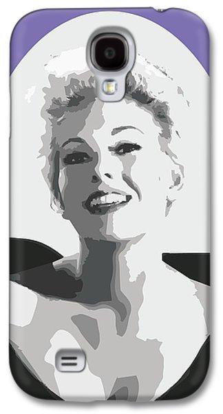 Kim Drawings Galaxy S4 Cases - Kim Novak Galaxy S4 Case by Joaquin Abella