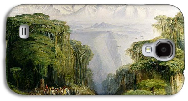 Snow Capped Galaxy S4 Cases - Kinchinjunga from Darjeeling Galaxy S4 Case by Edward Lear