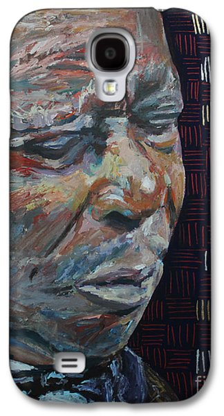 U2 Paintings Galaxy S4 Cases - King of the Blues B B King Portrait Galaxy S4 Case by Robert Yaeger