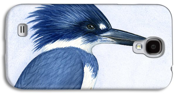 Cape Cod Paintings Galaxy S4 Cases - Kingfisher portrait Galaxy S4 Case by Charles Harden