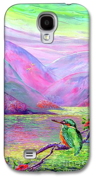 Kingfisher, Shimmering Streams Galaxy S4 Case by Jane Small
