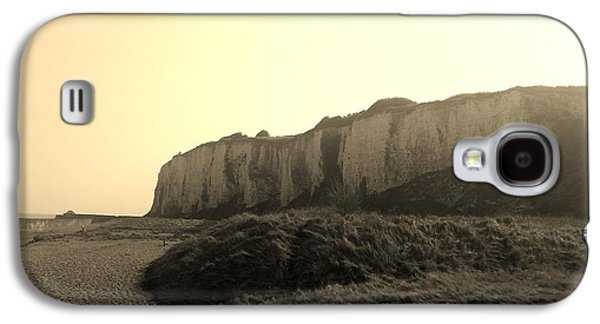 Sepia Chalk Galaxy S4 Cases - Kingsdown Cliffs Sepia Galaxy S4 Case by Inspired Photographic