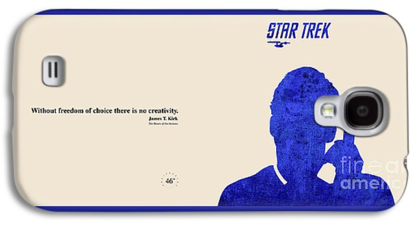 Enterprise Mixed Media Galaxy S4 Cases - Kirk Quote - Star Trek Galaxy S4 Case by Pablo Franchi