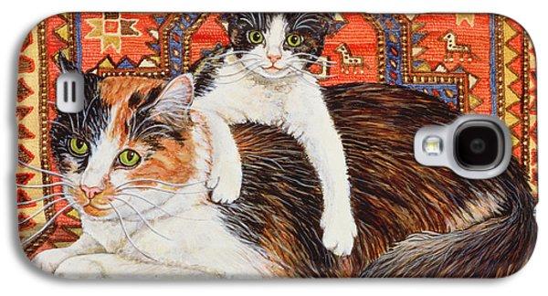 Persian Carpet Galaxy S4 Cases - Kit Cat Carpet Galaxy S4 Case by Ditz