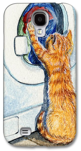 Washing Machine Galaxy S4 Cases - Kitten and Washing machine 204 Galaxy S4 Case by Svetlana Ledneva-Schukina