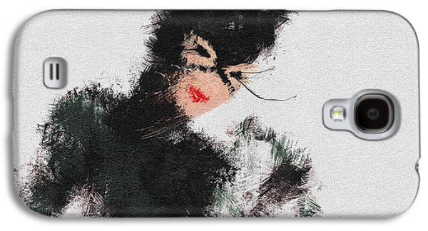 Character Portraits Paintings Galaxy S4 Cases - Kitty Galaxy S4 Case by Miranda Sether