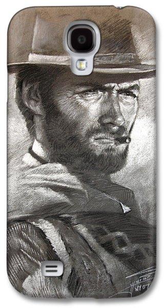 Fine Drawings Galaxy S4 Cases - Klint Eastwood Galaxy S4 Case by Ylli Haruni