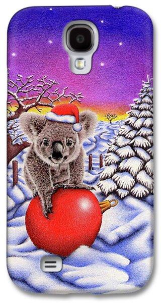 Koala On Christmas Ball Galaxy S4 Case by Remrov