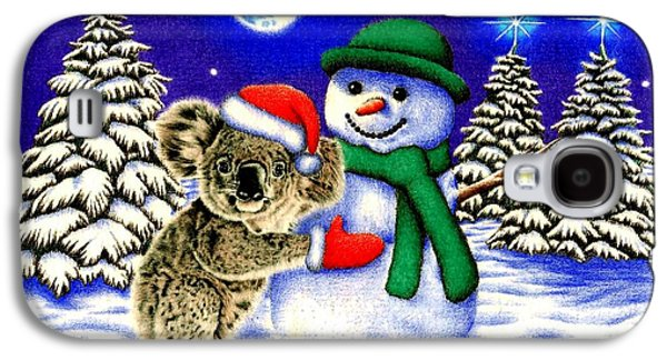 Koala With Snowman Galaxy S4 Case by Remrov