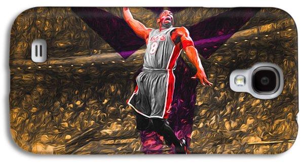 Kobe Bryant Black Mamba Digital Painting Galaxy S4 Case by David Haskett