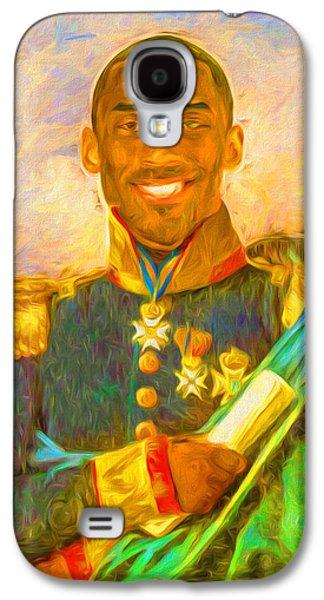 Kobe Bryant Floor General Digital Painting La Lakers Galaxy S4 Case by David Haskett
