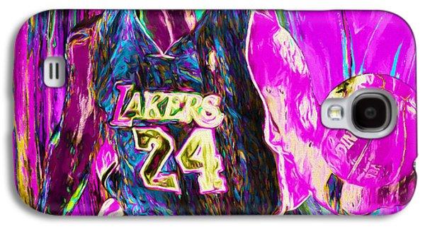 Kobe Bryant La Lakers Digital Painting 3 Galaxy S4 Case by David Haskett