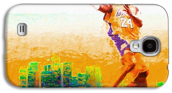 Kobe Bryant Los Angeles Lakers Digital Painting 1 Galaxy S4 Case by David Haskett