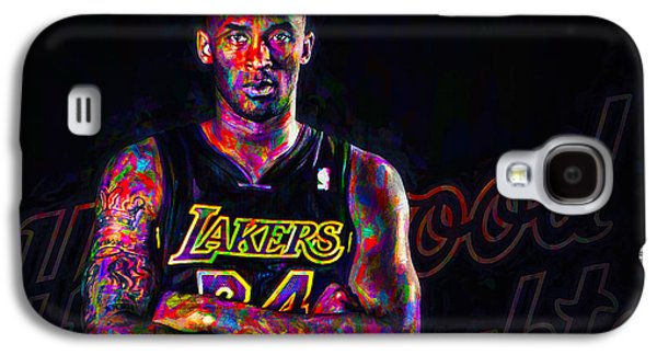 Kobe Bryant Los Angeles Lakers Digital Painting 2 Galaxy S4 Case by David Haskett