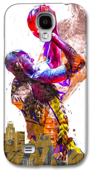 Kobe Bryant Los Angeles Lakers Digital Painting Snake 1 Galaxy S4 Case by David Haskett