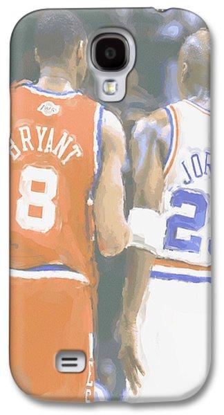 Kobe Bryant Michael Jordan 2 Galaxy S4 Case by Joe Hamilton