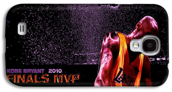 Black Mamba Galaxy S4 Cases - Kobe Bryant NBA Finals Galaxy S4 Case by Brian Reaves