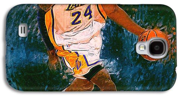 Kobe Bryant Wall Art Galaxy S4 Cases - Kobe Bryant Galaxy S4 Case by Semih Yurdabak