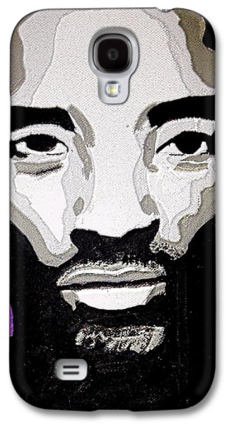 Bryant Paintings Galaxy S4 Cases - Kobe Bryant the BlacK Mamba Galaxy S4 Case by Breanna Lewis