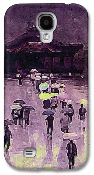 Kobe Digital Galaxy S4 Cases - Kobe Rain Galaxy S4 Case by Susan Maxwell Schmidt