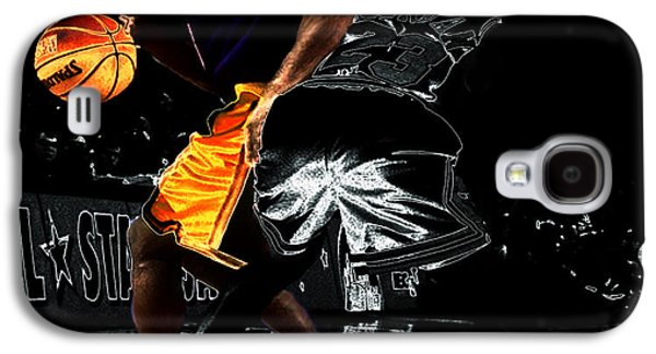 Kobe Digital Galaxy S4 Cases - Kobe Spin Move on Jordan Galaxy S4 Case by Brian Reaves