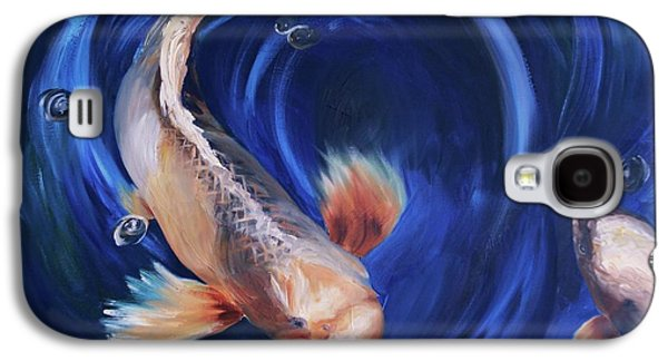Butterfly Koi Galaxy S4 Cases - Koi Galaxy S4 Case by Donna Tuten