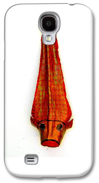Original Sculptures Galaxy S4 Cases - Koi Fish On Frond Original Art Galaxy S4 Case by Janet Craig