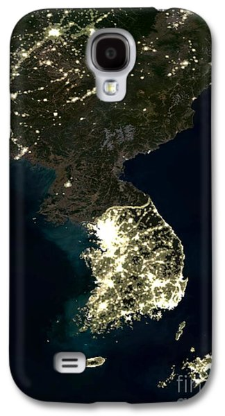 Science Collection - Galaxy S4 Cases - Korean Peninsula Galaxy S4 Case by Planet Observer and SPL and Photo Researchers