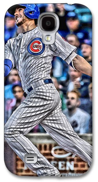 Kris Bryant Chicago Cubs Galaxy S4 Case by Joe Hamilton