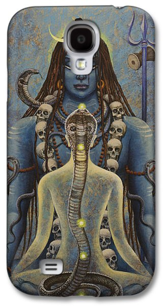 Chakra Paintings Galaxy S4 Cases - Kundalini Shakti Galaxy S4 Case by Vrindavan Das