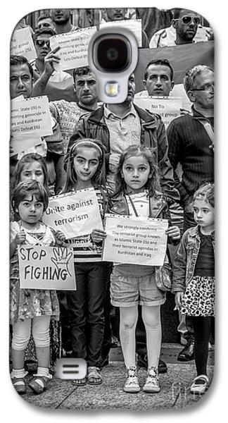Iraq Prints Galaxy S4 Cases - Kurdish Community Protest Galaxy S4 Case by Ian  Francis