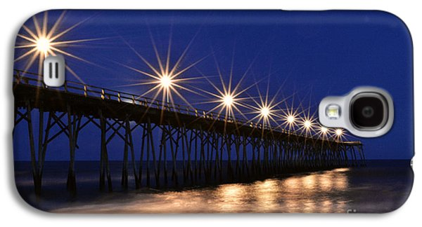 Original Art Photographs Galaxy S4 Cases - Kure Pier Star Bursts Galaxy S4 Case by Kelly Nowak