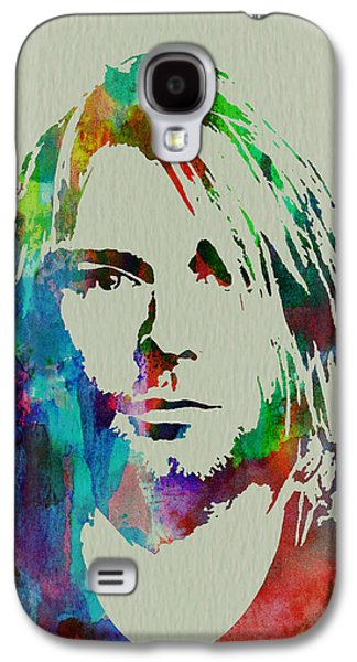 Watercolor Paintings Galaxy S4 Cases - Kurt Cobain Nirvana Galaxy S4 Case by Naxart Studio