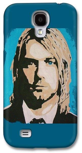 Celebrities Tapestries - Textiles Galaxy S4 Cases - Kurt Cobain T Shirt Galaxy S4 Case by Funk Art