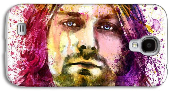 Paiting Galaxy S4 Cases - Kurt Cobain watercolor painting Galaxy S4 Case by Marian Voicu