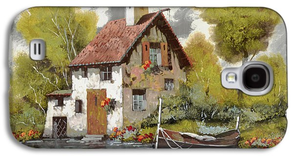 Jewelry Galaxy S4 Cases - La Barca Galaxy S4 Case by Guido Borelli