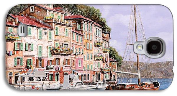 Seascape Galaxy S4 Cases - La Barca Rossa Alla Calata Galaxy S4 Case by Guido Borelli