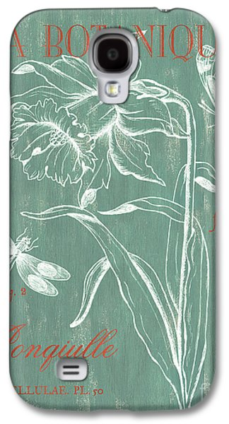 Pen And Ink Drawing Drawings Galaxy S4 Cases - La Botanique Aqua Galaxy S4 Case by Debbie DeWitt