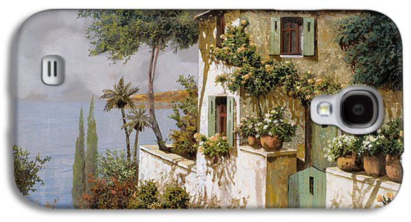 Green Galaxy S4 Cases - La Casa Giallo-verde Galaxy S4 Case by Guido Borelli