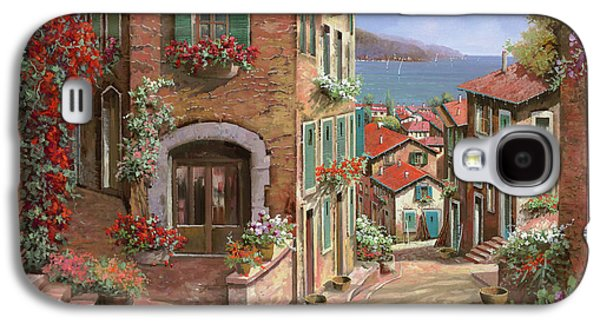 Town Paintings Galaxy S4 Cases - La Discesa Al Mare Galaxy S4 Case by Guido Borelli