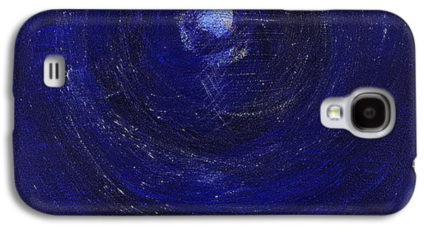 Jet Star Paintings Galaxy S4 Cases - La Luna Diviso Galaxy S4 Case by Jennifer Hochschild
