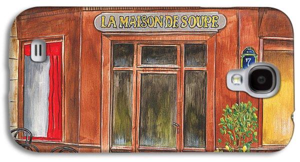 Botanical Galaxy S4 Cases - La Maison de Soupe Galaxy S4 Case by Debbie DeWitt