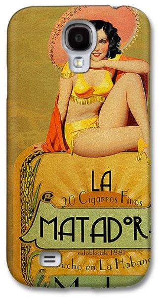Vintage Galaxy S4 Cases - la Matadora Galaxy S4 Case by Cinema Photography