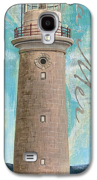 Maps Paintings Galaxy S4 Cases - La Mer Lighthouse Galaxy S4 Case by Debbie DeWitt