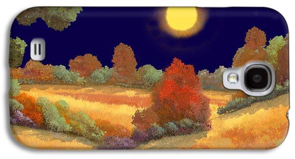 Night Paintings Galaxy S4 Cases - La Musica Della Notte Galaxy S4 Case by Guido Borelli